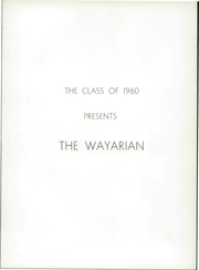 Page 5, 1960 Edition, Waynesboro Area Senior High School - Wayarian Yearbook (Waynesboro, PA) online yearbook collection