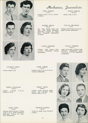 Page 15, 1956 Edition, West Allegheny High School - Alleghanian Yearbook (Imperial, PA) online yearbook collection