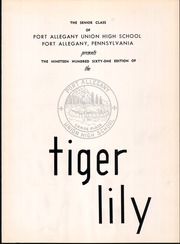 Page 5, 1961 Edition, Port Allegany Union High School - Tiger Lily Yearbook (Port Allegany, PA) online yearbook collection