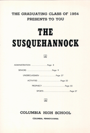 Page 5, 1954 Edition, Columbia High School - Susquehannock Yearbook (Columbia, PA) online yearbook collection