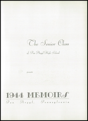 Page 7, 1944 Edition, Pen Argyl Area High School - Memoirs Yearbook (Pen Argyl, PA) online yearbook collection