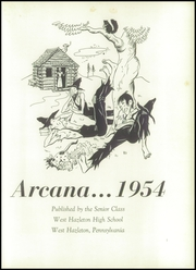 Page 5, 1954 Edition, West Hazleton High School - Arcana Yearbook (West Hazleton, PA) online yearbook collection