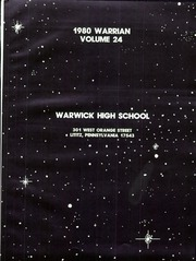 Page 3, 1980 Edition, Warwick High School - Warrian Yearbook (Lititz, PA) online yearbook collection