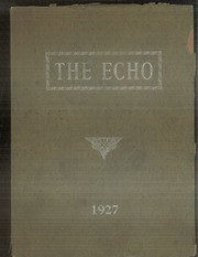 Page 1, 1927 Edition, Curwensville Area High School - Echo Yearbook (Curwensville, PA) online yearbook collection