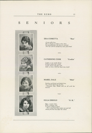 Page 17, 1927 Edition, Curwensville Area High School - Echo Yearbook (Curwensville, PA) online yearbook collection