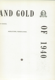 Page 7, 1940 Edition, Middletown Area High School - Reflections Yearbook (Middletown, PA) online yearbook collection