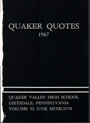 Page 5, 1967 Edition, Quaker Valley High School - Quaker Quotes Yearbook (Leetsdale, PA) online yearbook collection