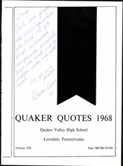 Page 5, 1968 Edition, Quaker Valley High School - Quaker Quotes Yearbook (Leetsdale, PA) online yearbook collection