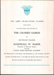 Page 11, 1962 Edition, Valley Forge Military Academy - Crossed Sabres Yearbook (Wayne, PA) online yearbook collection