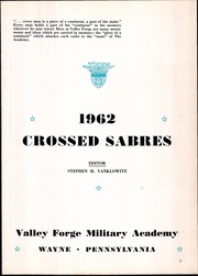 Page 7, 1962 Edition, Valley Forge Military Academy - Crossed Sabres Yearbook (Wayne, PA) online yearbook collection