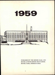Page 9, 1959 Edition, Bethel Park High School - Beacon Yearbook (Bethel Park, PA) online yearbook collection