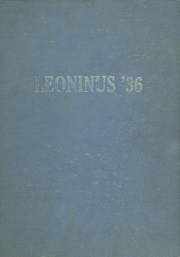1936 Edition, New Holland High School - Leoninus Yearbook (New Holland, PA)