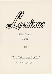 Page 3, 1954 Edition, New Holland High School - Leoninus Yearbook (New Holland, PA) online yearbook collection