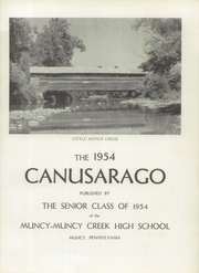 Page 5, 1954 Edition, Muncy High School - Canusarago Yearbook (Muncy, PA) online yearbook collection