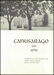 Page 5, 1959 Edition, Muncy High School - Canusarago Yearbook (Muncy, PA) online yearbook collection