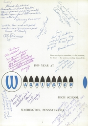 Page 5, 1959 Edition, Washington High School - Little Prexie Yearbook (Washington, PA) online yearbook collection