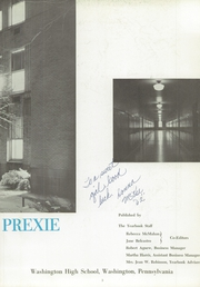 Page 7, 1959 Edition, Washington High School - Little Prexie Yearbook (Washington, PA) online yearbook collection