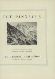 Page 5, 1944 Edition, Hamburg High School - Pinnacle Yearbook (Hamburg, PA) online yearbook collection