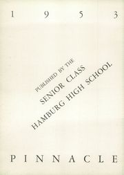 Page 6, 1953 Edition, Hamburg High School - Pinnacle Yearbook (Hamburg, PA) online yearbook collection