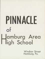 Page 7, 1968 Edition, Hamburg High School - Pinnacle Yearbook (Hamburg, PA) online yearbook collection