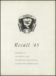 Page 7, 1945 Edition, Quakertown Community Senior High School - Recall Yearbook (Quakertown, PA) online yearbook collection