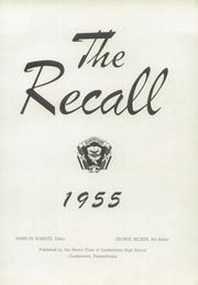 Page 7, 1955 Edition, Quakertown Community Senior High School - Recall Yearbook (Quakertown, PA) online yearbook collection