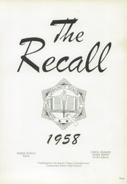 Page 9, 1958 Edition, Quakertown Community Senior High School - Recall Yearbook (Quakertown, PA) online yearbook collection