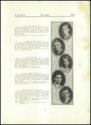 Page 13, 1931 Edition, Upper Darby High School - Oak Yearbook (Upper Darby, PA) online yearbook collection