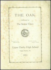 Page 3, 1931 Edition, Upper Darby High School - Oak Yearbook (Upper Darby, PA) online yearbook collection