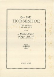Page 5, 1932 Edition, Altoona High School - Horseshoe Yearbook (Altoona, PA) online yearbook collection