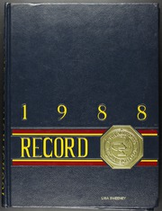 Page 1, 1988 Edition, Frankford High School - Record Yearbook (Philadelphia, PA) online yearbook collection