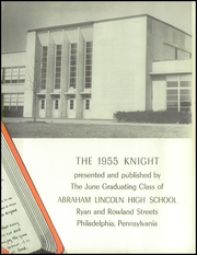 Page 7, 1955 Edition, Lincoln High School - Knight Yearbook (Philadelphia, PA) online yearbook collection