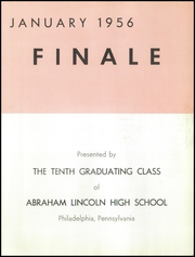 Page 5, 1956 Edition, Lincoln High School - Knight Yearbook (Philadelphia, PA) online yearbook collection