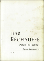 Page 5, 1958 Edition, Easton Area High School - Rechauffe Yearbook (Easton, PA) online yearbook collection