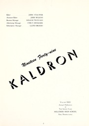 Page 7, 1949 Edition, McDowell High School - Kaldron Yearbook (Erie, PA) online yearbook collection