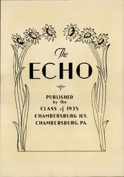 Page 9, 1935 Edition, Chambersburg Area High School - Echo Yearbook (Chambersburg, PA) online yearbook collection