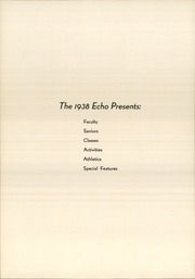 Page 10, 1938 Edition, Chambersburg Area High School - Echo Yearbook (Chambersburg, PA) online yearbook collection