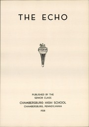 Page 9, 1938 Edition, Chambersburg Area High School - Echo Yearbook (Chambersburg, PA) online yearbook collection