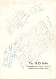 Page 5, 1945 Edition, Chambersburg Area High School - Echo Yearbook (Chambersburg, PA) online yearbook collection