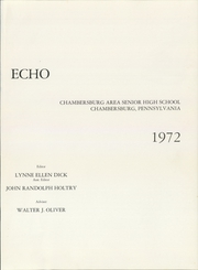 Page 5, 1972 Edition, Chambersburg Area High School - Echo Yearbook (Chambersburg, PA) online yearbook collection