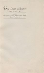 Page 5, 1931 Edition, Butler High School - Magnet Yearbook (Butler, PA) online yearbook collection