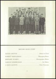 Page 13, 1941 Edition, Central High School - Yearbook (Philadelphia, PA) online yearbook collection