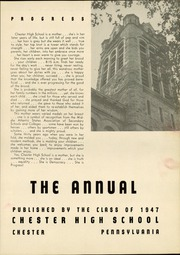 Page 5, 1947 Edition, Chester High School - Annual Yearbook (Chester, PA) online yearbook collection