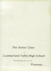 Page 5, 1957 Edition, Cumberland Valley High School - Argus Yearbook (Mechanicsburg, PA) online yearbook collection