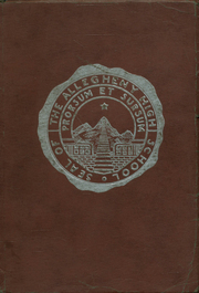 Allegheny High School - Wah Hoo Yearbook (Pittsburgh, PA) online yearbook collection, 1922 Edition, Page 1