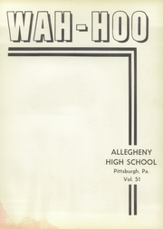 Page 5, 1957 Edition, Allegheny High School - Wah Hoo Yearbook (Pittsburgh, PA) online yearbook collection