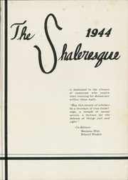 Page 5, 1944 Edition, Shaler High School - Shaleresque Yearbook (Pittsburgh, PA) online yearbook collection