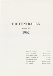 Page 5, 1962 Edition, Central Dauphin High School - Centralian Yearbook (Harrisburg, PA) online yearbook collection