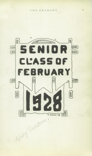 Page 11, 1928 Edition, Peabody High School - Peabody Yearbook (Pittsburgh, PA) online yearbook collection