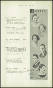 Page 21, 1934 Edition, Peabody High School - Peabody Yearbook (Pittsburgh, PA) online yearbook collection